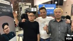 ہنوئی کے 'ٹونگ ڈونگ ہیر سیلون' میں ٹرمپ اور شمالی کوریا کے کم جونگ ان کے ہیرسٹائل میں مفت بال کٹوانے کی پیش کش۔