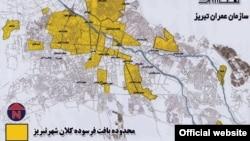 Təbrizin köhnəlmiş infrastrukturunun xəritəsi