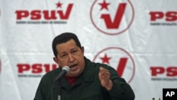 Venezuela's President Hugo Chavez speaks during a meeting with United Socialist party members in Caracas after gaining decree powers for 18 months, (file photo)
