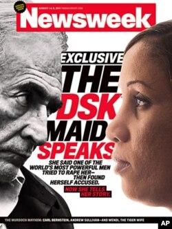 Strauss-Kahn et Diallo en couverture du magazine Newsweek