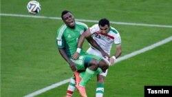 مهرداد پولادی با لباس تیم ملی فوتبال ایران در جام جهانی برزیل