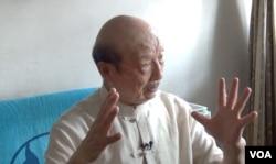 任世淦接受林森采访(VOA视频截图)