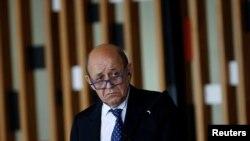 ARCHIVO - Canciller de Francia, Jean-Yves Le Drian en el Palacio de Itamaraty, Brasilia, Brasil, el 29 de julio de 2019. Reuters/Adriano Machado.