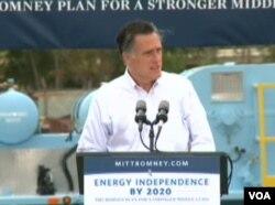 罗姆尼誓言独立能源、创造就业(视频截图)