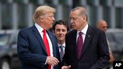 Trump dhe Erdogan në korrik 2018