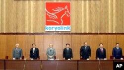 지난 2008년 이집트 통신회사 오라스콤이 평양에서 3세대 휴대전화 네트워크 개통식을 가졌다. (자료사진)