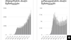 დღიური ინფიცირება და სიკვდილობა. Worldometer -07.23.2020