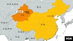 中国新疆维吾尔自治区吐鲁番鄯善县地理位置