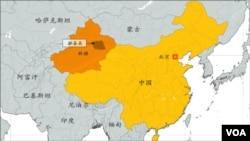 中国新疆维吾尔自治区吐鲁番鄯善县地理位置。