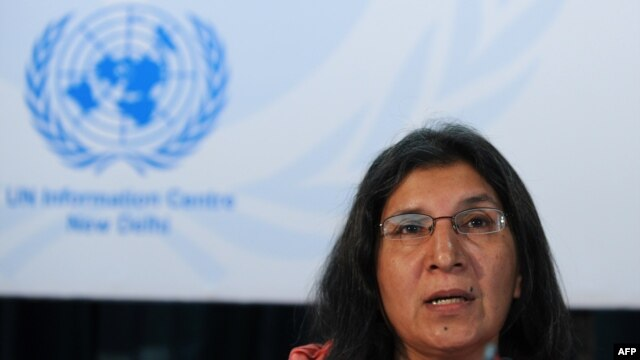 FILE - United Nations Special Rapporteur on Violence Against Women Rashida Manjoo.