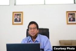 Rektor UNS Solo, Prof Jamal Wiwoho, dalam jumpa pers secara daring, Selasa, 21 Juli 2020. (Foto: Humas UNS)
