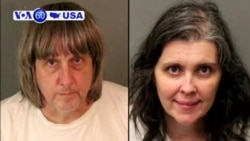 VOA60 America - A couple is being held on $9 million bail in California for allegedly abusing their children