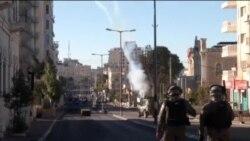 巴勒斯坦人与以色列军人发生冲突