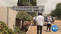 """英语视频:美国全国有色人种协进会到加纳参加""""回归年""""纪念活动"""