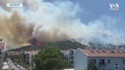 Marmaris'te de Yangın Çıktı