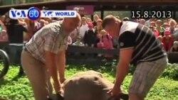 Vườn thú Riga, Latvia, tổ chức cân rùa (VOA60)