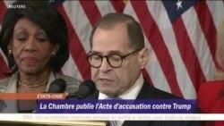 Impeachment : les démocrates retiennent deux chefs d'accusation contre Trump