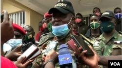 General Nka Valere, commander of Cameroon troops fighting separatists in Cameroon's English speaking Northwest region, Apr. 19, 2021. (Moki Edwin Kindzeka/VOA)