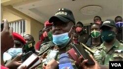 FILE - General Nka Valere, commander of Cameroon troops fighting separatists in Cameroon's English speaking Northwest region, Apr. 19, 2021. (Moki Edwin Kindzeka/VOA)