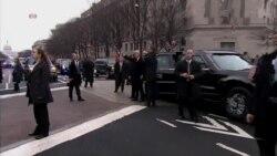 Presidet Trump and Family Walk the Parade