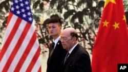 美國商務部長羅斯2018年6月3號抵達北京釣魚台國賓館與中國副總理劉鶴會談。