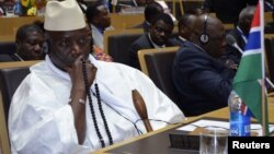 Gambia's President Yahya Jammeh attends leaders meeting at the African Union, Addis Ababa, July 15, 2012.
