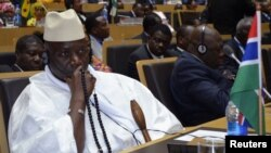 Le président sortant gambien Yahya Jammeh. (Photo, 15 juillet 2012)
