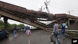 د اوکراین په ختیځ کې یو نړیدلی پل