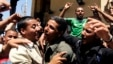 The relatives of seven kidnapped security officers and soldiers celebrate after their return, in the Rafah border, Egypt, May 22, 2013.