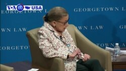 VOA60 America- .S. Supreme Court Justice Ruth Bader Ginsburg spoke at Georgetown University on gender inequality