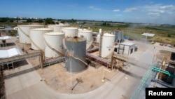 FILE - A view of the Patagonia Bioenergia biodiesel plant in San Lorenzo, Argentina.