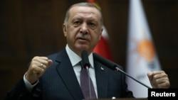 Cumhurbaşkanı Recep Tayyip Erdoğan TBMM'de partisinin grup toplantısında konuştu.