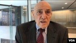 前美國國防部官員博思科2019年3月4日在華盛頓接受美國之音採訪(美國之音鍾辰芳拍攝)