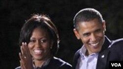 Presiden AS Barack Obama dan Ibu Negara Michelle Obama.