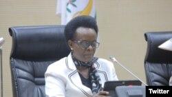Mukasine Marie Claire umuyobozi wa komisiyo ishinzwe Uburenganzira bwa muntu mu Rwanda.