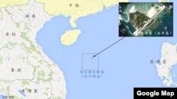 伍迪岛(永兴岛)在南中国海中的位置图