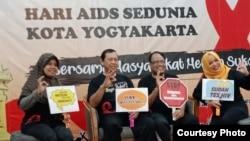 Kegiatan CD Bethesda dalam peringatan Hari Aids di Yogyakarta. (Foto: CD Bethesda)