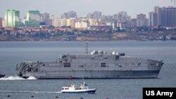 USNS Yuma ოდესის ფონზე