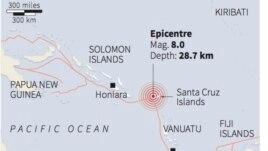 Anulohet paralajmërimi për cunami në Ishujt Solomon