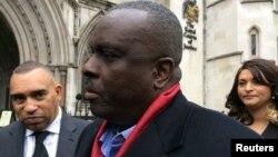 James Ibori, l'ancien gouverneur de l'État du Delta, parle après avoir été entendu par la cour de Justice à Londres, en Grande-Bretagne, le 31 janvier 2017.