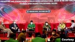 Amerika mengajak Indonesia kembali memperkuat penegakan HAM, dalam diskusi menjelang kedatangan Menteri Luar Negeri Amerika Mike Pompeo, di Jakarta, 28 Oktober 2020. (Foto courtesy : GP Ansor)