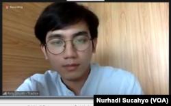Manajer riset di Traction Energy Asia, Ricky Amukti, dalam tangkapan layar. (Foto: VOA/Nurhadi Sucahyo)