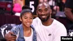 """Kobe Bryant e a sua filha Gianna Bryant """"Gigi"""" a 27 de Julho de 2019, em Las Vegas (Arquivo)"""