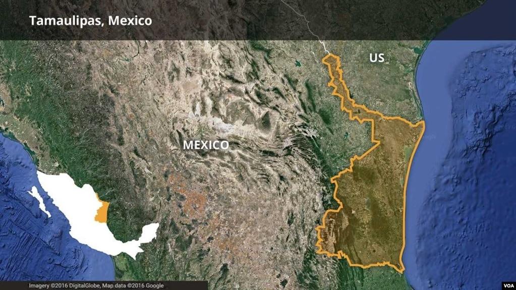 map showing tamaulipas mexico