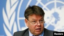 FILE - Petteri Taalas, secretary-general of the World Meteorological Organization, is pictured at the U.N. Office in Geneva, Oct. 24, 2016.