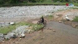سائیکل پر پہاڑوں کا سفر کرنے والی پاکستانی لڑکی