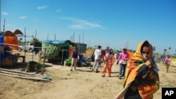 Nearly 200 families were moved here from the city, following a forced eviction at Borei Keila, a Phnom Penh neighborhood slated for development by the company Phan Imex.