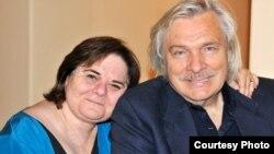 Олег Видов и его жена Джоан Борстен