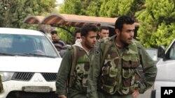 Binh sĩ Syria tại thành phố Homs, ngày 3/5/2012
