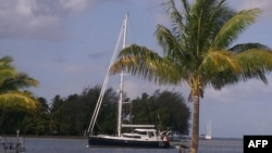 FILE - The S/V Quest yacht that belonged to Jean and Scott Adams. On February 22, 2011, Somali pirates killed four Americans after hijacking the yacht.